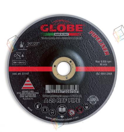 Круг для подготовки трубы к сварке GLOBE PIPE