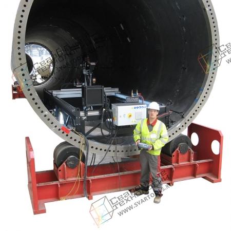 Система для вырезки и вварки люков в обечайки большого диаметра