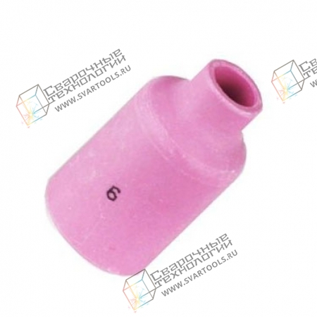 Керамическое сопло Foxweld D=9,5 мм №6 (газовая линза)