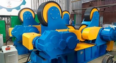 Оснащение цеха корпусного оборудования роликовыми вращателями грузоподъемностью 200тн и 350тн