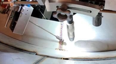 Реализован проект SAF-FRO по приварке колец по внутреннему диаметру обечайки методом MIG/MAG