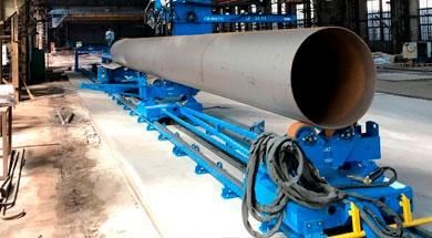 Реализованный проект SAF-FRO по продольной сварке под флюсом труб длиной до 12м